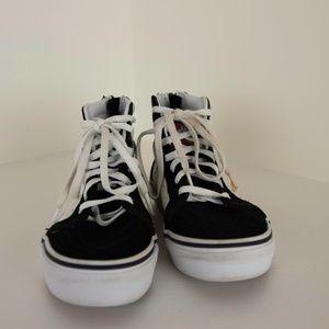 Kid's Vans Hi Tops Peanuts Snoopy Black Shoes 12.5